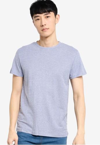 ZALORA BASICS blue Soft Pique Round Neck T-Shirt F5091AA9368899GS_1