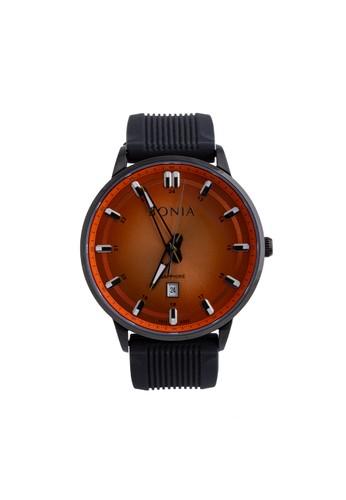 BONIA black Bonia B10332-1722 - Jam Tangan Pria - Black Orange 0B215ACEED501BGS_1