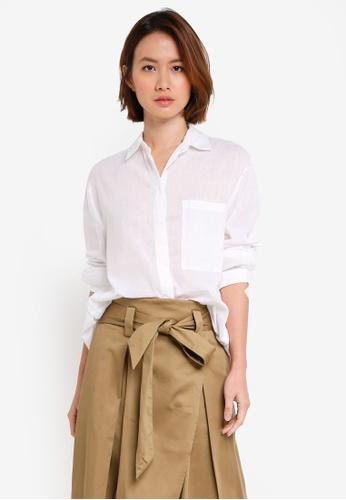 OVS white Long Sleeve Shirt 3F531AA03DAA13GS_1