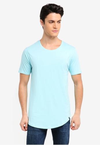 Factorie 藍色 素色短袖T恤 452A6AA7CBD730GS_1