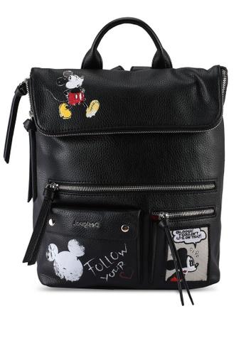 Desigual black Mickey Rock Nerano Backpack EB8C4ACC1F6FF0GS_1