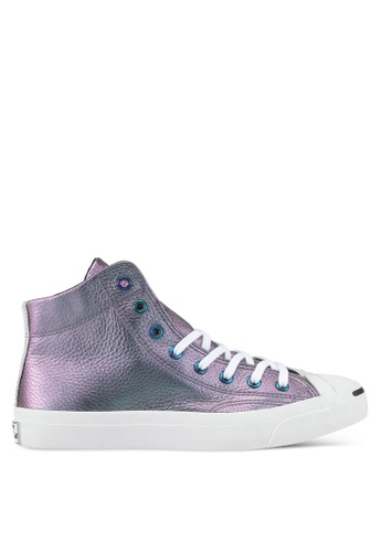 Converse purple and multi Jack Purcell Jack Mid Sneakers CO302SH0SXUYMY_1