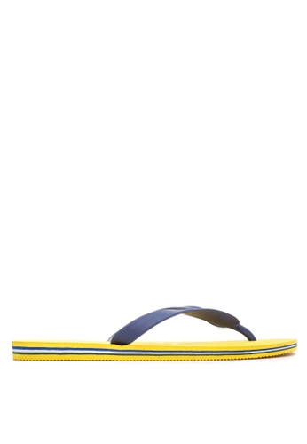 Dupe yellow and navy Brasil Flip Flops DU626SH50KMRPH_1
