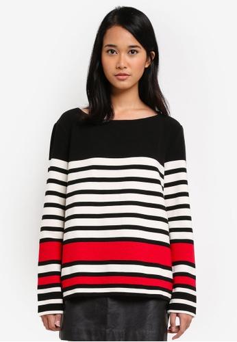 ESPRIT black Long Sleeve Sweatshirt 6EED5AA1BCFFE6GS_1