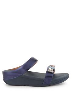 058598b8cb3 Fitflop blue Fino Bejewelled Slide D74C1SHAAF4E23GS 1
