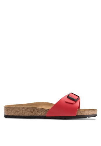 Birkenstock red Madrid Sandals BI090SH33COKMY_1