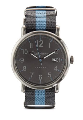 R2351105016 Charlie esprit tw條紋尼龍帶手錶, 錶類, 飾品配件