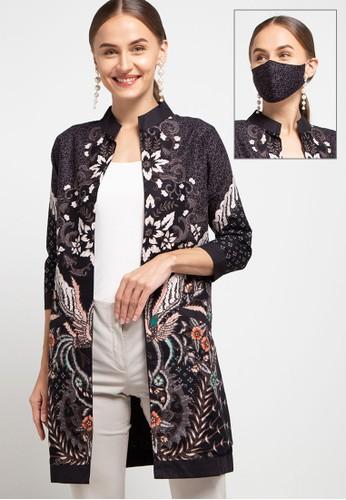 Rianty Batik black Cardigan Rery F016DAA90F0068GS_1