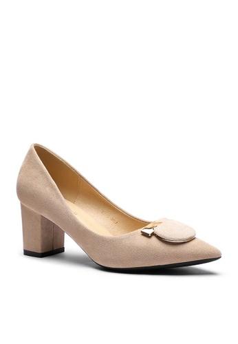 Twenty Eight Shoes beige 6.5CM Pointy Pumps  1308-57 EE933SH113B05BGS_1