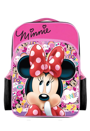 Disney Minnie black and pink Disney Minnie Mouse Smile Primary School Bag 41CF3KCEC8337AGS_1