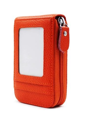 Fashion by Latest Gadget orange Leather Credit Card Wallet FA499AC52KDRPH_1