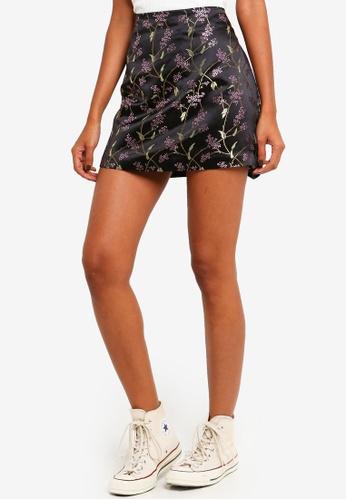 Brave Soul black Brocade Mini Skirt 1D5DBAACAAAD6FGS_1