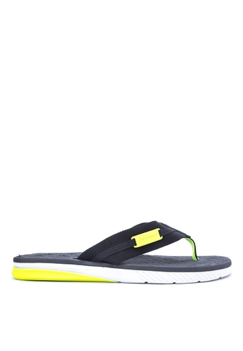 Rider black and yellow Prime Dedo AD Flip Flops RI584SH49KIOPH_1