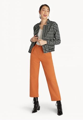 cf90f23a05ac Buy Pomelo Gingham Jacket - Black Online on ZALORA Singapore