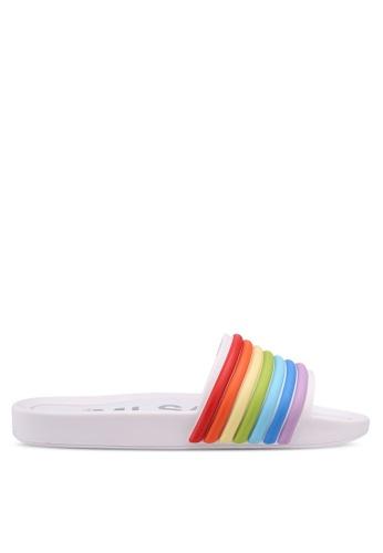 Melissa 白色 Melissa Beach Slide 3DB Rainbow Ad 涼鞋 251D6SH8CDCB25GS_1