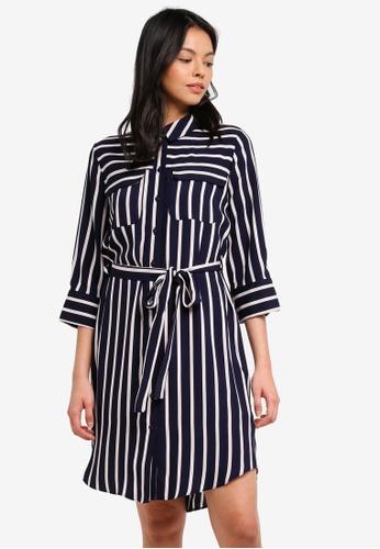 Dorothy Perkins navy Stripe Pocket Shirtdress 66EE0AAD8D291FGS_1