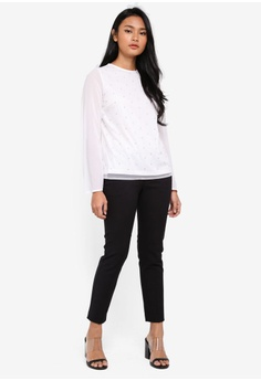 f651c840b3 60% OFF Dorothy Perkins Ivory Pearl Long Sleeve Top RM 187.75 NOW RM 74.90  Available in several sizes