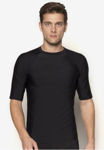 羅紋圓領短袖衝浪上衣, 服飾zalora 衣服評價, Rashguards