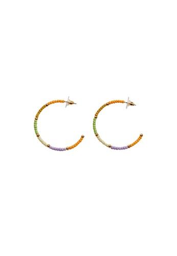 Mango multi Bead Loop Earrings F9609AC442CD88GS_1
