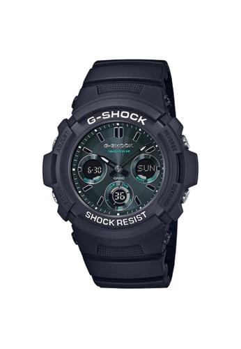 Casio black CASIO G-SHOCK AWR-M100SMG-1ADR BLACK RESIN STRAP MEN'S WATCH 39EA2ACA1424BAGS_1