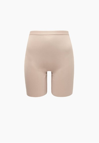 SABINA beige Thigh Contour Seamless Shapewear A9F5FUS483C2ABGS_1