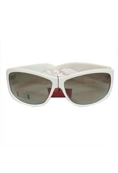 CT-0800 Sunglasses White w/Free C-thru High Quality Case, Lens Cleaning Case, C-thru box