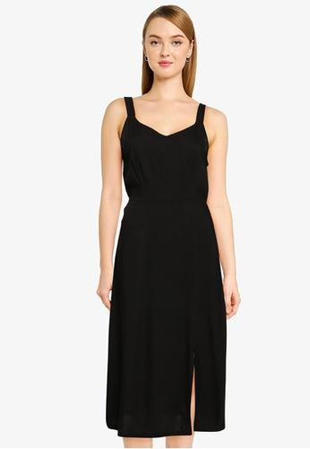 Vero Moda black Easy Strap Calf Dress 8CC14AA779407EGS_1