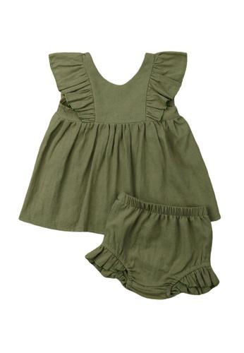 RAISING LITTLE green Lucy Outfit Set 520D9KA5C446C5GS_1
