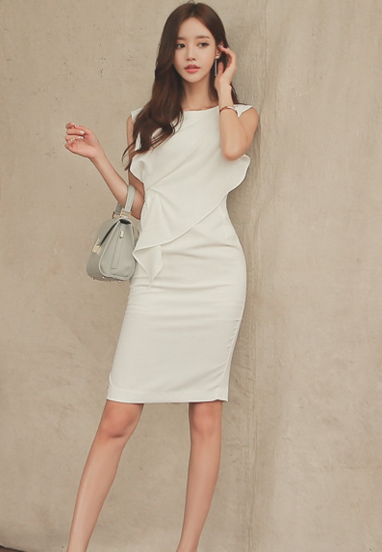 White white Dress UA040329 Piece One S Sunnydaysweety Elegant 2017 S tqPz1tw
