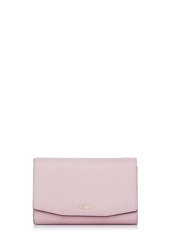 BONIA pink Pink Raffia Twist Three Fold Wallet 4BB34AC0AF98CDGS_1