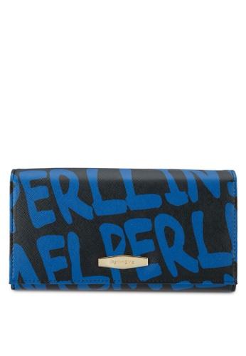 Perllini&Mel blue Faux Leather Long Size Wallet PE444AC0SBNDMY_1