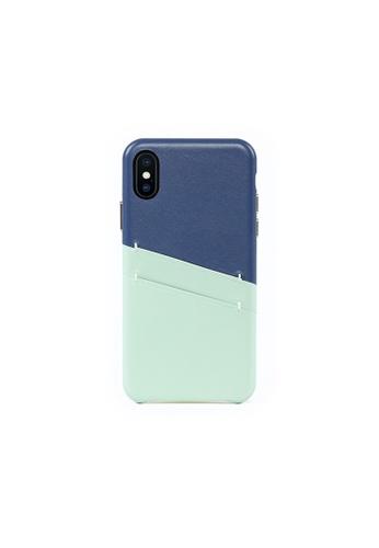 OBX blue Seafoam iPhone X/Xs Leather Card Slot Case B496FACAA89DDFGS_1