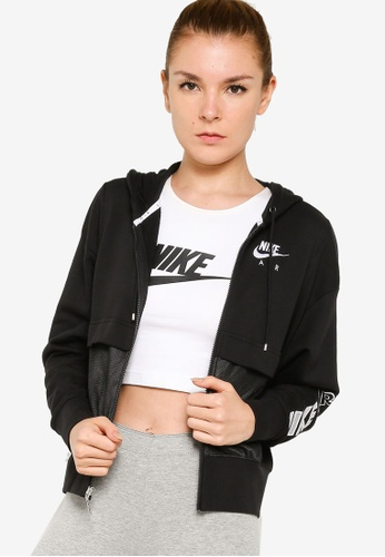 Nike black and grey Air Full-Zip Top B9CA7AA790FCB8GS_1