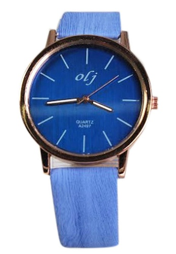 World of Watches blue OLJ Lauren Wood Women's Leather Strap Watch A2497 WO566AC84UGTPH_1
