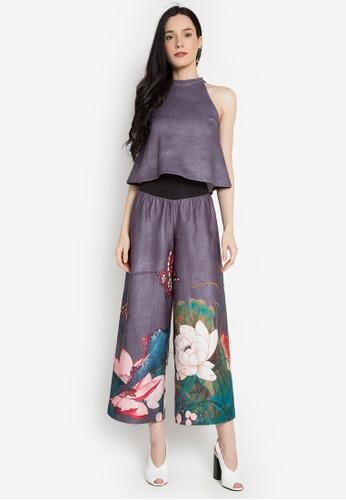 Gene M. Gozum blue Jessica Halter Set Japanese Garden Print GE062AA0KHV7PH_1