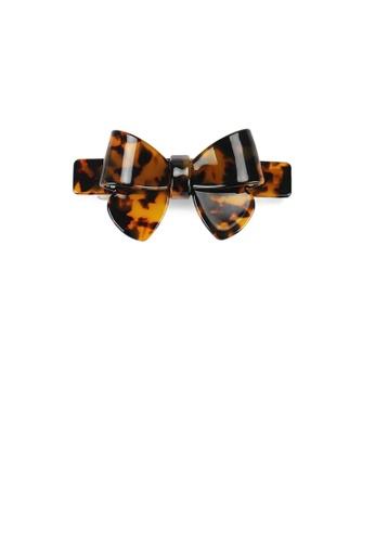 Glamorousky silver Fashion and Simple Tortoiseshell Ribbon Small Hair Slide 2253DACB769547GS_1