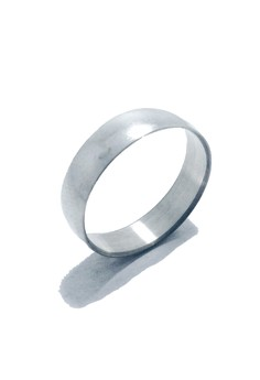 Stainless Steel Wide Dome Ring