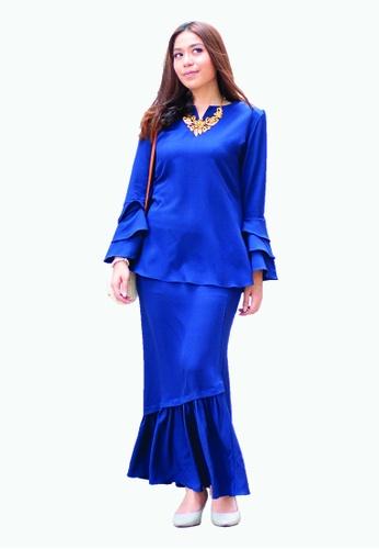 Delila Kurung Modern from Kamelia in Blue
