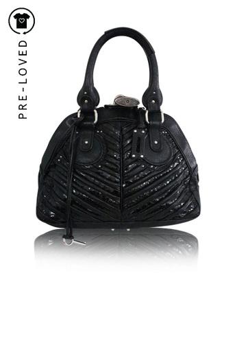 Chloé black Pre-Loved chloé Black Paddington Striped Bag 2169BAC4C727E9GS_1