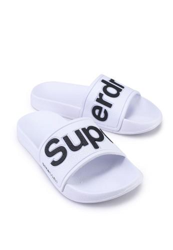 Superdry white Eva Pool Sliders - Sportstyle Code C8143SH60DF1B2GS_1