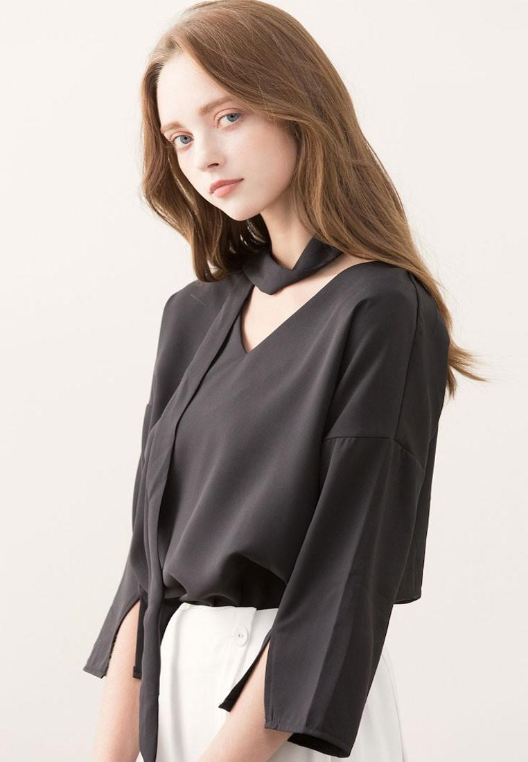 Sleek Elegance Scarf Top