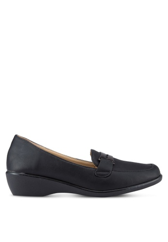 Noveni black Wedged Loafers NO978SH93REOMY_1