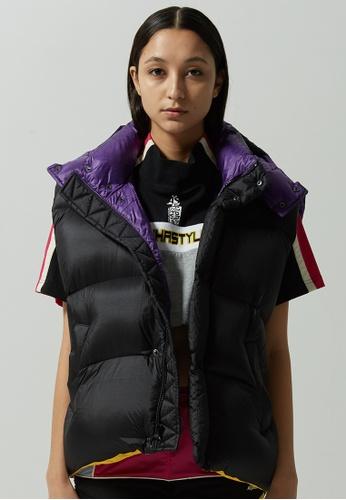 Alpha Style black Vonte Solid Down Puffer Vest 30DF9AA5EF0EB6GS_1