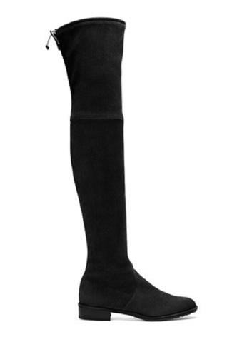 Sunnydaysweety 黑色 韓國最新黑色真皮長靴AU01051 SU395SH09Y1KTW_1