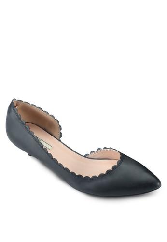 扇貝邊飾低esprit 價位跟鞋, 女鞋, 鞋