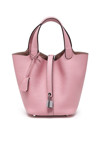 Twenty Eight Shoes pink VANSA Simple Leather Bucket Hand Bag VBW-Hb928700L 2C375AC242140BGS_1