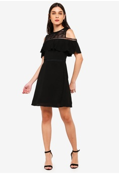 79394cf54c 30% OFF ZALORA Cold Shoulder Fit And Flare Dress RM 119.00 NOW RM 82.90  Sizes XS S M L XL
