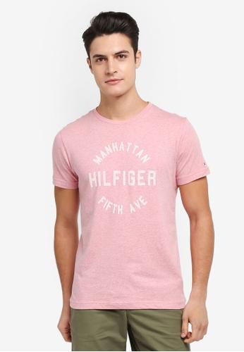 Tommy Hilfiger pink OWEN C-NK TEE S/S RF 5628EAAE226CF3GS_1