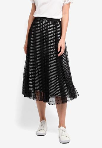 ESPRIT black Knitted Midi Skirt 5DBB4AA31D533EGS_1