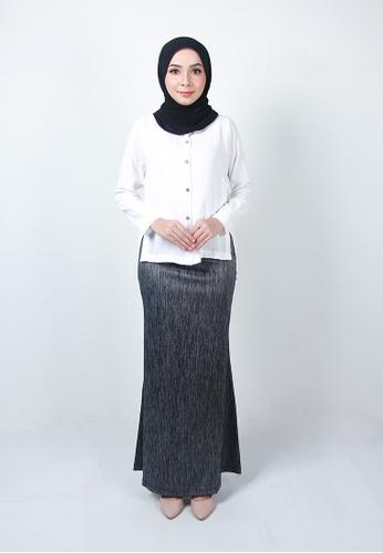 Ladies Jeans grey Muslimah Elegant Long Skirt 47D63AAD480D22GS_1